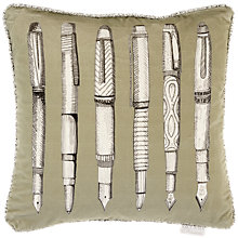 Buy Voyage Fountain Pens Cushion, Sage Online at johnlewis.com
