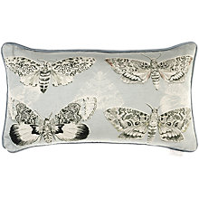 Buy Voyage Multi Moths Cushion, Sky Online at johnlewis.com