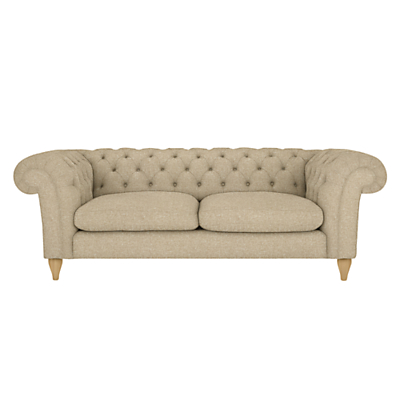 John Lewis Cromwell Chesterfield Grand 4 Seater Sofa, Light Leg