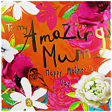 Buy Hammond Gower Gold Orange Floral Mother's Day Card Online at johnlewis.com