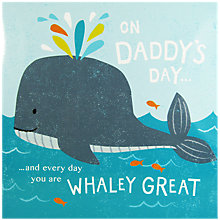Buy Cardmix Whaley Great Dad Father's Day Card Online at johnlewis.com