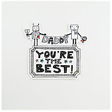 Buy Blue Eyed Sun Daddy Robots Father's Day Card Online at johnlewis.com
