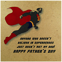 Buy Five Dollar Shake Superheroes Father's Day Card Online at johnlewis.com