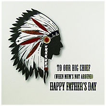 Buy Five Dollar Shake Big Chief Father's Day Card Online at johnlewis.com