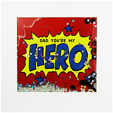 Buy James Ellis Stevens You're My Hero Father's Day Card Online at johnlewis.com