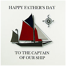 Buy Five Dollar Shake Captain Of Our Ship Father's Day Card Online at johnlewis.com