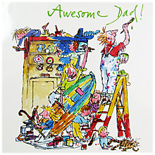 Buy Woodmansterne Awesome Dad Father's Day Card Online at johnlewis.com