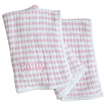 Buy My 1st Years Baby Personalised Striped Cable Blanket Online at johnlewis.com