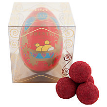 Buy Prestat Paper Easter Egg Filled With Red Velvet Truffles, 75g Online at johnlewis.com