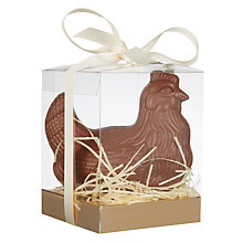 Buy Chocolate Easter Hen On Edible Grass, 200g Online at johnlewis.com