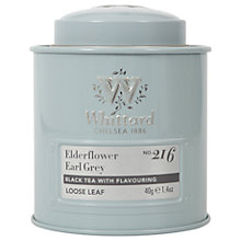 Buy Whittard Elderflower Earl Grey Loose Leaf Tea & Caddy, 40g Online at johnlewis.com