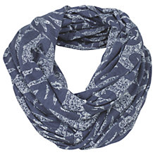 Buy Fat Face Ornate Bird Burnout Snood, Indigo/White Online at johnlewis.com