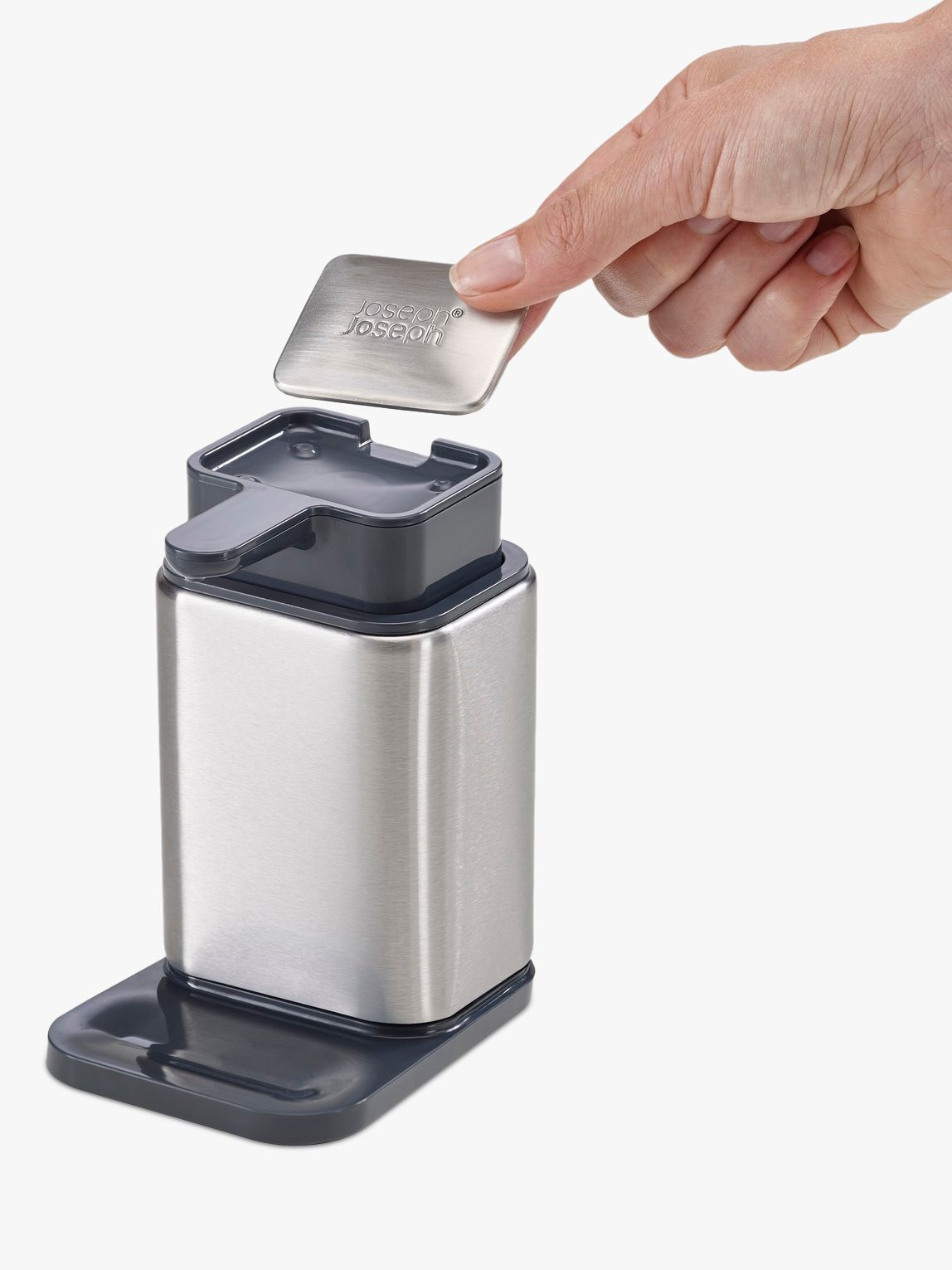 Joseph Joseph Joseph Joseph Surface Soap Dispenser, Stainless Steel