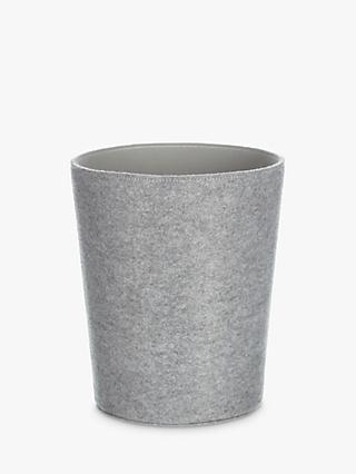 House by John Lewis Felt Wastepaper Bin, Grey