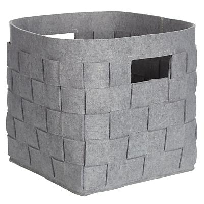 House by John Lewis Woven Felt Storage Box
