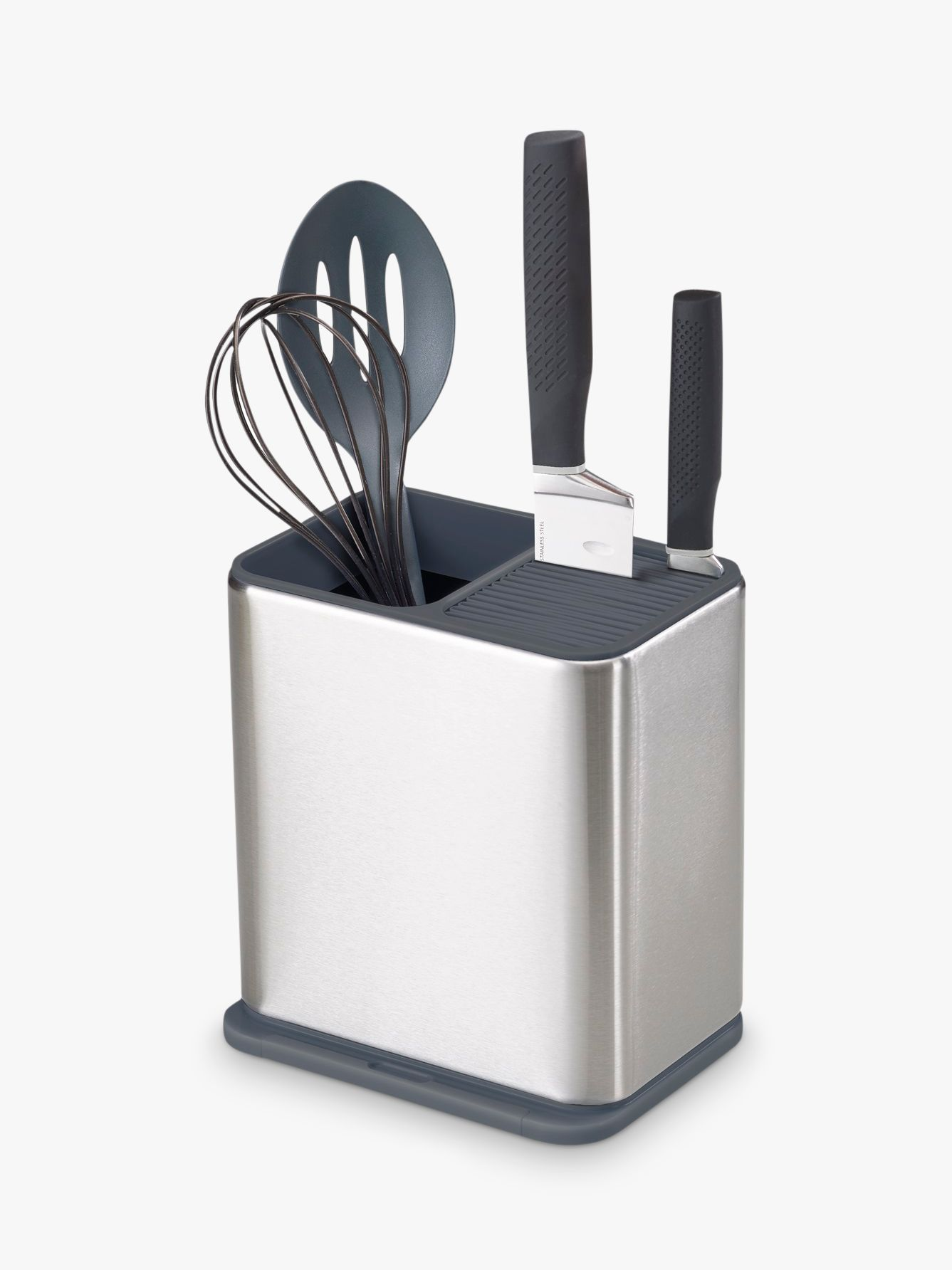Joseph Joseph Joseph Joseph Surface Utensil Holder, Stainless Steel