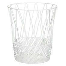 Buy House by John Lewis White Metal Waste Bin Online at johnlewis.com