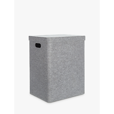 House by John Lewis Felt Laundry Basket, Grey