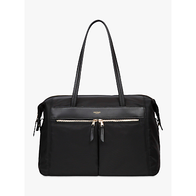 Knomo Curzon Shoulder Tote for 15 Laptops, Black