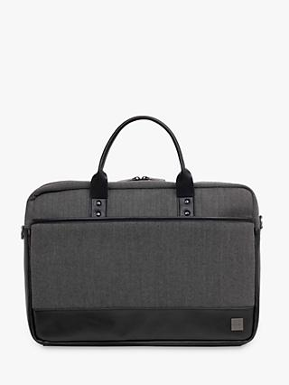 "Knomo Princeton Briefcase for 15.6"" Laptops, Grey"
