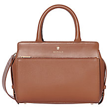 Buy Modalu Berkeley Leather Small Grab Bag, Tan Online at johnlewis.com