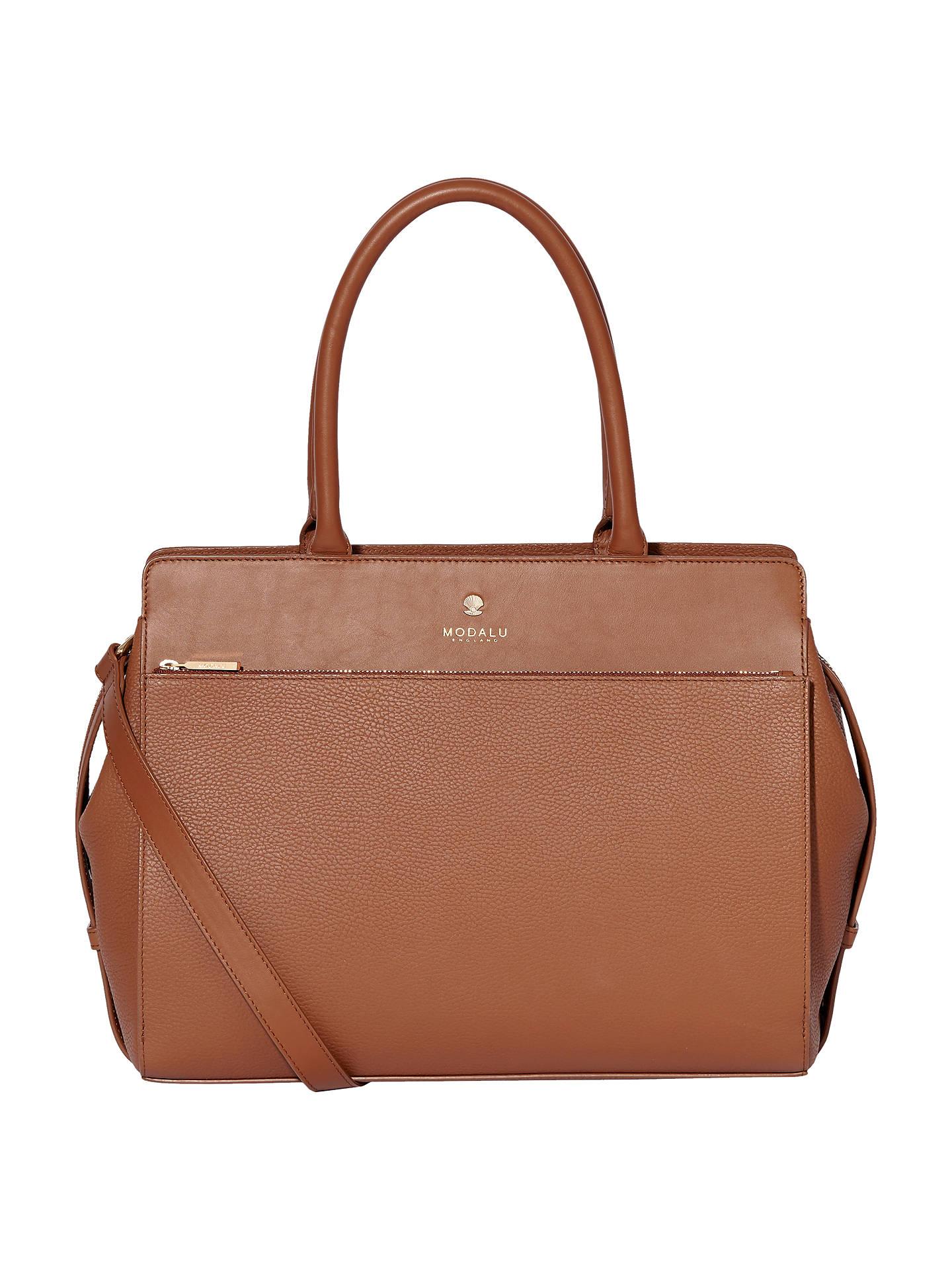 Modalu Berkeley Leather Grab Bag, Tan, Tan