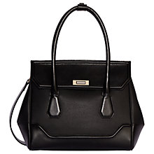Buy Modalu Hemingway Leather Medium Grab Bag, Black Online at johnlewis.com