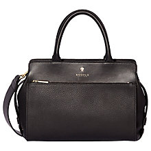 Buy Modalu Berkeley Leather Small Grab Bag, Black Online at johnlewis.com