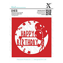 Buy Docrafts Xcut Large Happy Birthday Dies, Pack of 1 Online at johnlewis.com