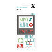 Buy Docrafts Xcut Small Selfie Frame Dies, Pack of 9 Online at johnlewis.com
