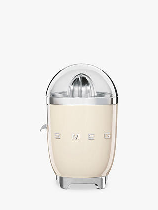 Buy Smeg CJF01CRUK Retro Citrus Juicer, Cream Online at johnlewis.com