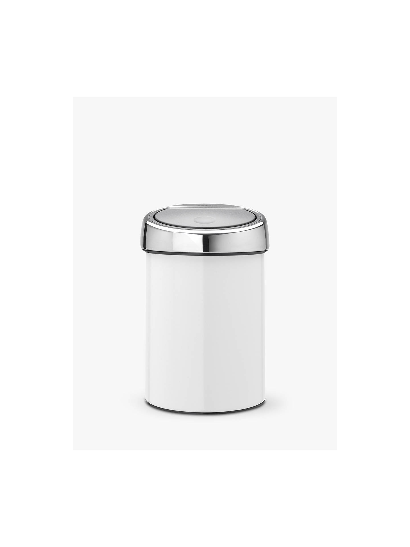 brabantia touch bin gloss white 3l at john lewis partners. Black Bedroom Furniture Sets. Home Design Ideas