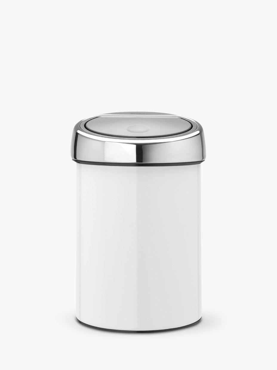 Brabantia Brabantia Touch Bin, Gloss White, 3L