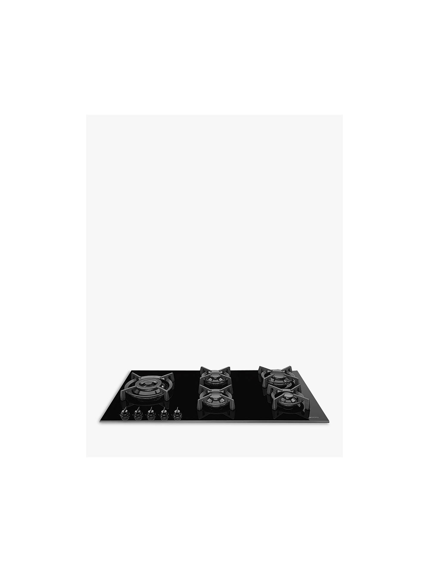BuySmeg PV695LCNX Dolce Stil Novo Gas Hob, Black/Stainless Steel Online at johnlewis.com