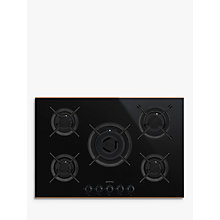Buy Smeg PV675CNR Dolce Stil Novo Gas Hob, Black/Copper Online at johnlewis.com