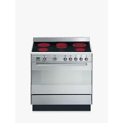 Image of Smeg SUK91CMX9 Concert Range Cooker With Ceramic Hob, Stainless Steel