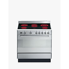 Buy Smeg SUK91CMX9 Concert Range Cooker With Ceramic Hob, Stainless Steel Online at johnlewis.com