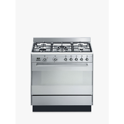 Image of Smeg SUK91MFX9 Concert Range Cooker With Gas Hob, Stainless Steel
