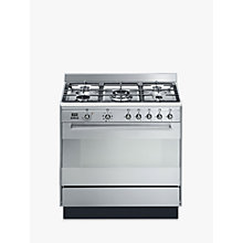Buy Smeg SUK91MFX9 Concert Range Cooker With Gas Hob, Stainless Steel Online at johnlewis.com