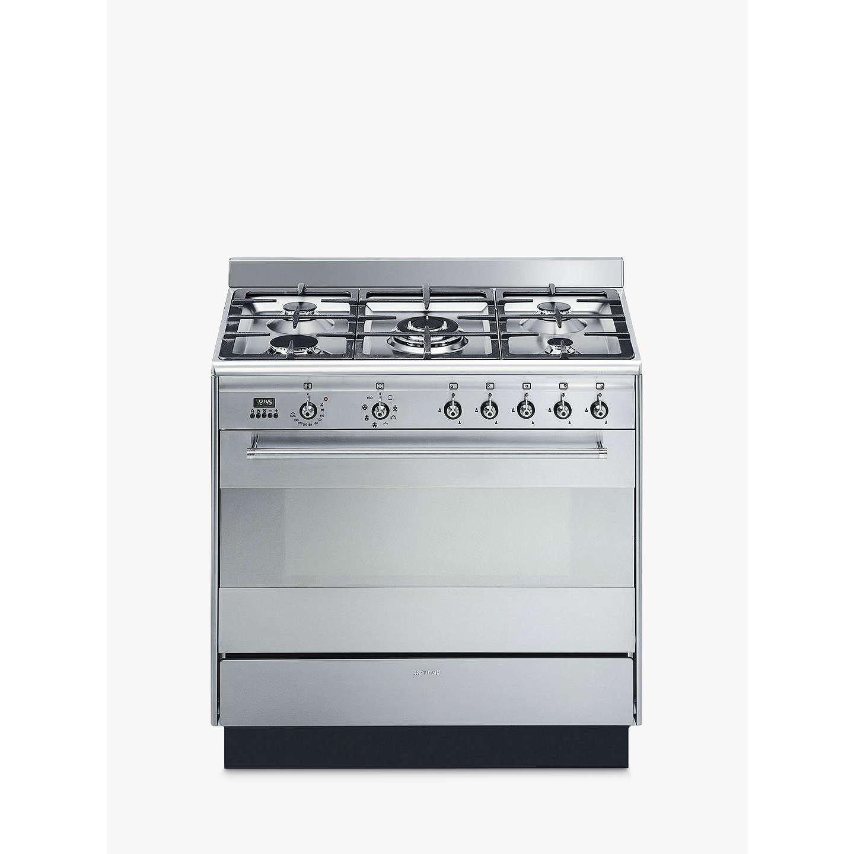 smeg suk91mfx9 concert range cooker with gas hob. Black Bedroom Furniture Sets. Home Design Ideas