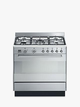 Smeg SUK91MFX9 Concert Range Cooker With Gas Hob, Stainless Steel