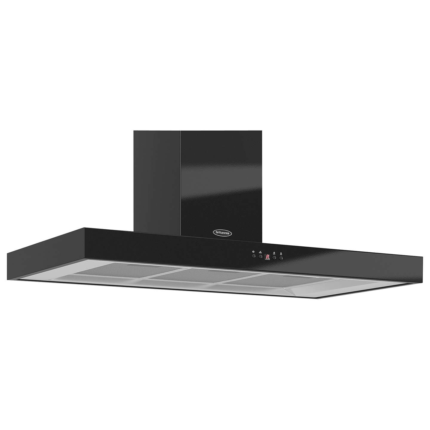 BuyBritannia K7088A-10-K Arioso Chimney Cooker Hood, Gloss Black Online at johnlewis.com