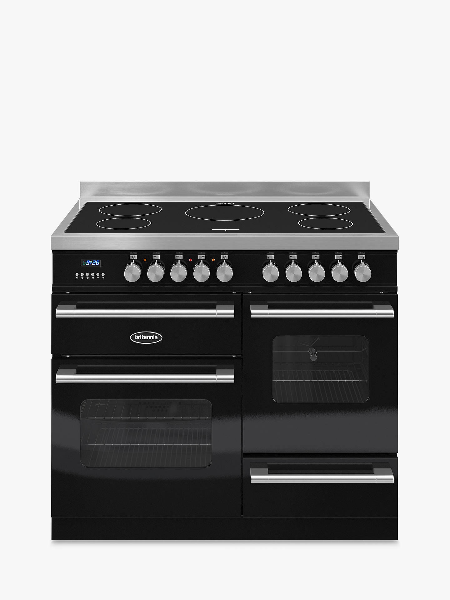 Buy Britannia RC-10XGI-DE-K Delphi Modern Induction Hob Range Cooker, Black Online at johnlewis.com
