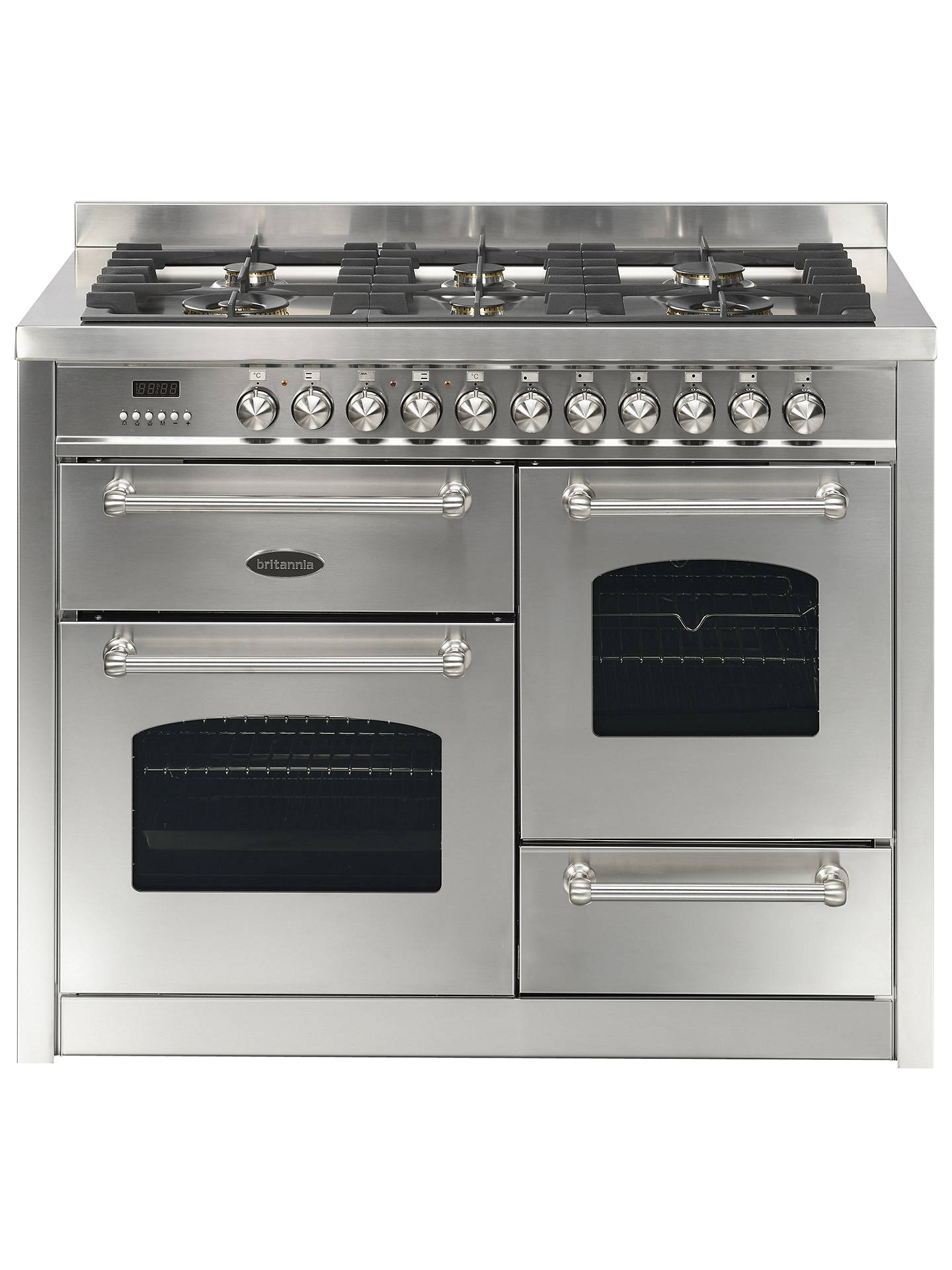 Buy Britannia Fleet RC-11XGG-FL-SS Dual Fuel Range Cooker, Stainless Steel Online at johnlewis.com