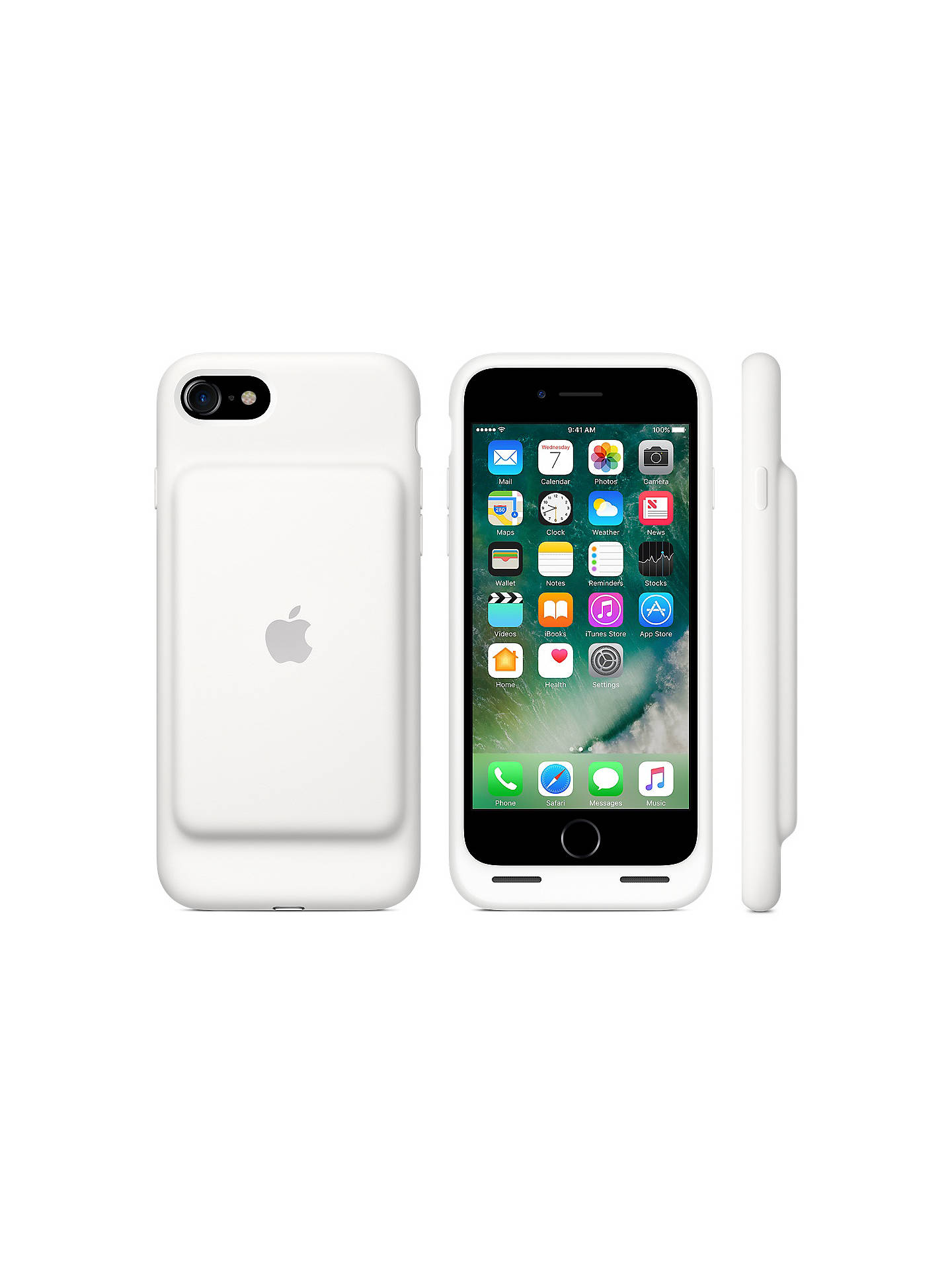 Buy Apple MN012ZM/A Smart Battery Case for iPhone 7, White Online at johnlewis.com