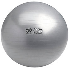Buy Yoga-Mad Swiss Fitness Ball and Pump, Silver Online at johnlewis.com