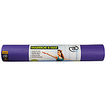 Buy Yoga-Mad Warrior II 4mm Yoga Mat, Purple Online at johnlewis.com