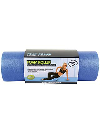 "Yoga-Mad 6"" Massage Foam Roller, Blue"