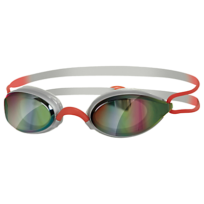 Zoggs Fusion Air Gold Mirror Swimming Goggles, Silver/Red
