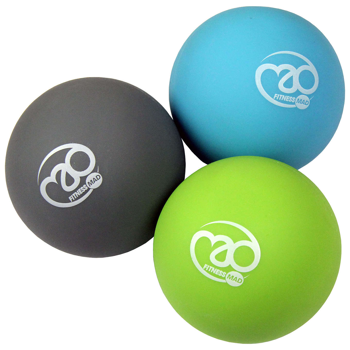Yoga-Mad Trigger Point Massage Ball Set, Multi At John Lewis
